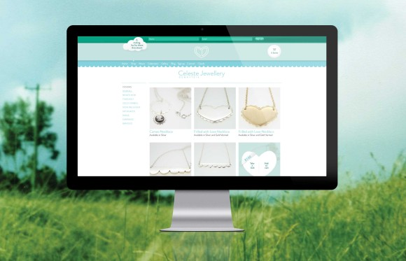 Celeste Jewellery - Web Design