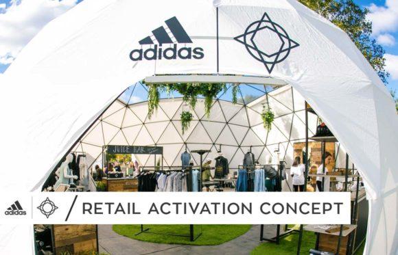 Wanderlust x adidas retail activation